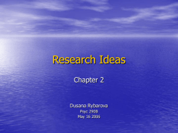 Research Ideas - University of Arizona