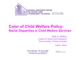 Clinical Issues Rising out of Child Welfare Research in