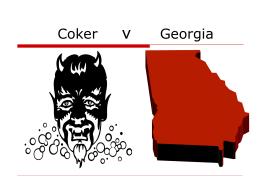 Coker v Georgia
