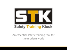 STK – Safety Training KIOSK