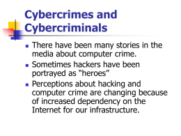 Three Categories of Cybercrime