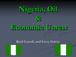 Nigeria, Oil & Economic Unrest