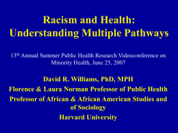 Racism and Health: Understanding Multiple Pathways