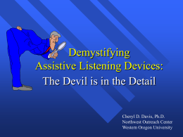 Demystifying Assistive Listening Devices