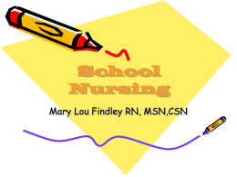 School Nursing - Union County College Faculty Web Site