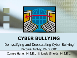 CYBER BULLYING - West Virginia Department of …