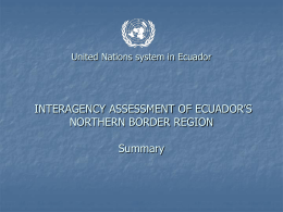 Northern Border Joint Programming in Ecuador