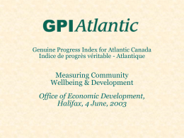 Measuring Community Wellbeing & Development