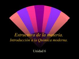 Estructura de la materia. - INTEF