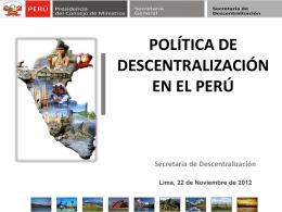 1.LaPoliticaDescentralizacion-Peru-PCM