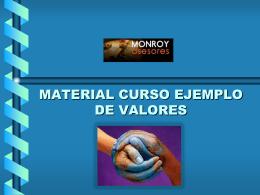 MATERIAL CURSO EJEMPLO DE VALORES …