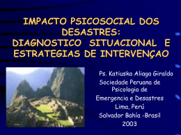 IMPACTO PSICOSOCIAL DE LOS DESASTRES: …