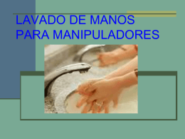LAVADO DE MANOS PARA MANIPULADORES