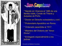 Diapositiva 1 - Presencia teatina en Cali, COLOMBIA