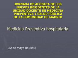 Medicina Preventiva hospitalaria