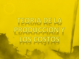 TEORIA DE LA PRODUCCION Y LOS COSTOS