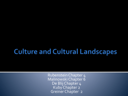 Cultural Patterns and Processes - AP Human Geography