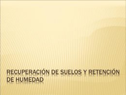 RECUPERACION DE SUELOS Y RETENCION DE HUMEDAD