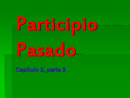 Participio Pasado