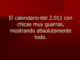 El calendario con del 2010 con las chicas mas sexys y con