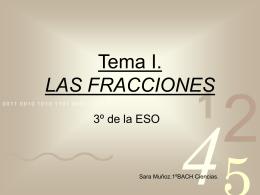 Tema I. LAS FRACCIONES