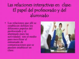 Las relaciones interactivas