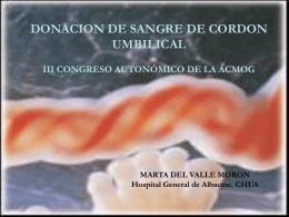 DONACION DE SANGRE DE CORDON UMBILICAL