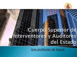 CUERPO SUPERIOR DE INTERVENTORES Y AUDITORES …