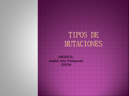 TIPOS DE MUTACIONES