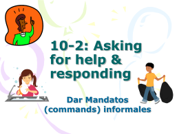 10-2: Asking for help & responding