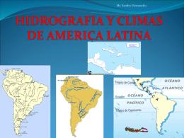 HIDROGRAFIA Y CLIMAS DE AMERICA LATINA