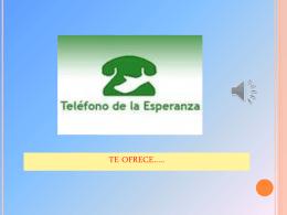 TELEFONO DE LA ESPERANZA DE ALBACETE TE OFRECE…..