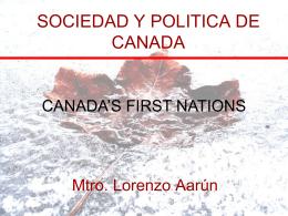 SOCIEDAD Y POLITICA DE CANADA - lorenzoaarun