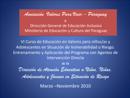 Diapositiva 1 - Living Values Education International