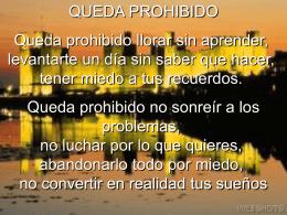 QUEDA PROHIBIDO