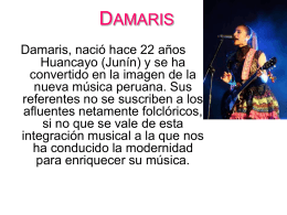 DAMARIS - Splendors of Peru | festival