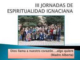 III JORNADAS DE ESPIRITUALIDAD IGNACIANA