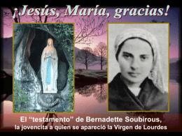 El testamento de Bernadette Soubirous