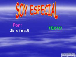 soy especial