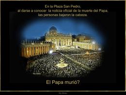 Gracias, Juan Pablo - Bienvenidos a la portada