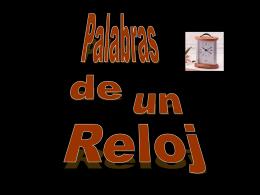 PALABRAS DE UN RELOJ