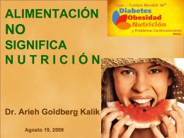 alimentacion NO significa NUTRICION