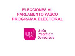 PUNTOS CLAVES DEL PROGRAMA ELECTORAL DE UPYD