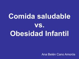 Comida saludable vs Obesidad Infantil