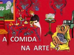 A COMIDA NA ARTE