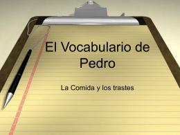 El Vocabulario de Pedro