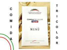 COMIDA TRICOLOR CINZANO