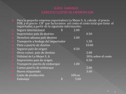 EJERCICIO COSTOS DE EXPORTACION