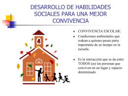 DESARROLLO DE HABILIDADES SOCIALES PARA UNA …