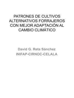 PATRONES DE CULTIVOS ALTERNATIVOS FORRAJEROS …